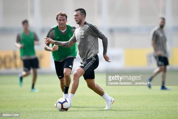 Federico Bernardeschi during a Juventus training session at Juventus Training Center on July 12 2018 in Turin Italy