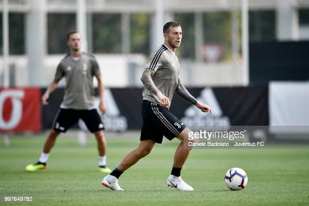 Federico Bernardeschi during a Juventus training session at Juventus Training Center on July 13 2018 in Turin Italy