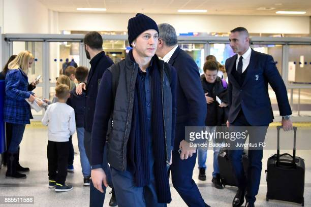 Federico Bernardeschi during a Juventus Travel to Athens ahead of the UEFA chanpions League match versus Olimpiacos at on December 4 2017 in Athens...