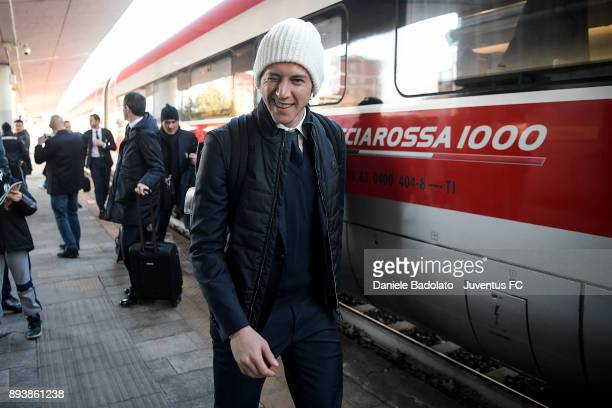 Federico Bernardeschi during Juventus Travel to Bologna ahead of the Serie A match versus Bologna FC on December 16 2017 in Bologna Italy