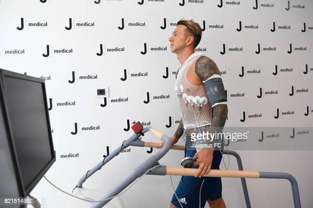 Federico Bernardeschi during the medical tests at J medical on July 24 2017 in Turin Italy