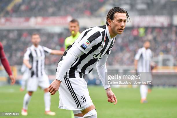 Federico Bernardeschi during the serie A match between Torino FC and Juventus at Stadio Olimpico di Torino on February 18 2018 in Turin Italy