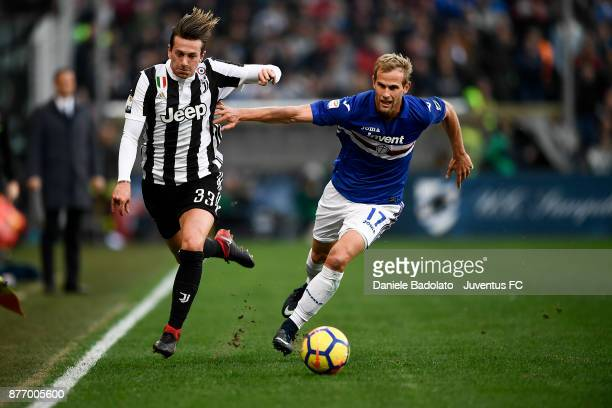 Federico Bernardeschi during the Serie A match between UC Sampdoria and Juventus at Stadio Luigi Ferraris on November 19 2017 in Genoa Italy