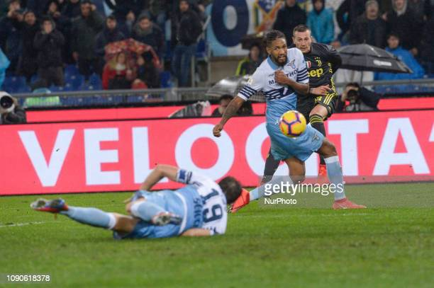 Federico Bernardeschi Fortuna Dos Santos Wallace during the Italian Serie A football match between SS Lazio and FC Juventus at the Olympic Stadium in...
