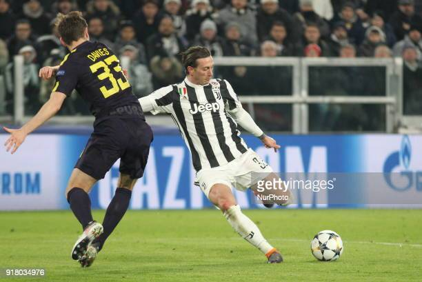 Federico Bernardeschi in action during the UEFA Champions League 2017/18 football match between Juventus FC and Tottenham Hotspur FC at Allianz...
