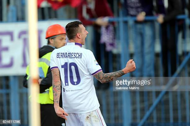Federico Bernardeschi of ACF Fiorentina celebrates after scoring a goal during the Serie A match between Empoli FC and ACF Fiorentina at Stadio Carlo...