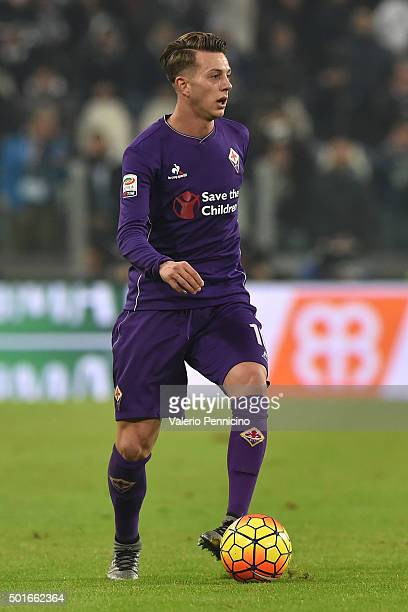 Federico Bernardeschi of ACF Fiorentina in action during the Serie A match betweeen Juventus FC and ACF Fiorentina at Juventus Arena on December 13...