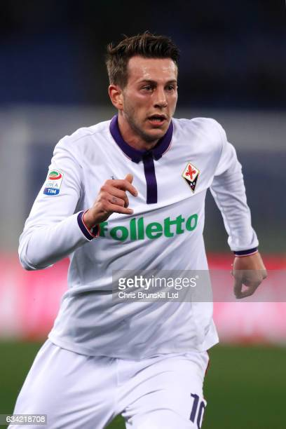 Federico Bernardeschi of ACF Fiorentina in action during the Serie A match between AS Roma and ACF Fiorentina at Stadio Olimpico on February 7 2017...