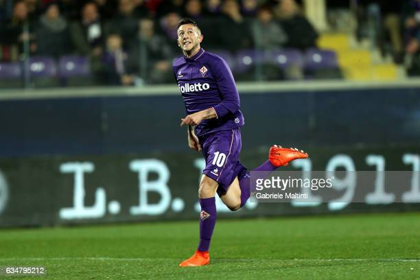 Federico Bernardeschi of ACF Fiorentina in action during the Serie A match between ACF Fiorentina and Udinese Calcio at Stadio Artemio Franchi on...