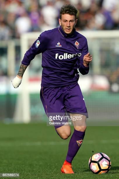 Federico Bernardeschi of ACF Fiorentina in action during the Serie A match between ACF Fiorentina and Cagliari Calcio at Stadio Artemio Franchi on...