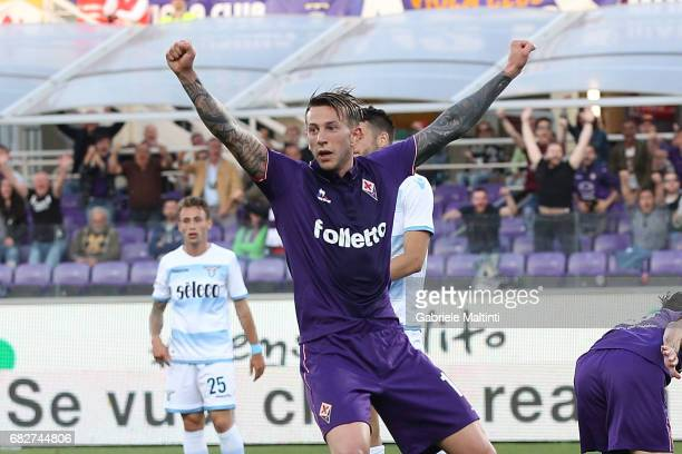 Federico Bernardeschi of ACF Fiorentina reacts during the Serie A match between ACF Fiorentina and SS Lazio at Stadio Artemio Franchi on May 13 2017...