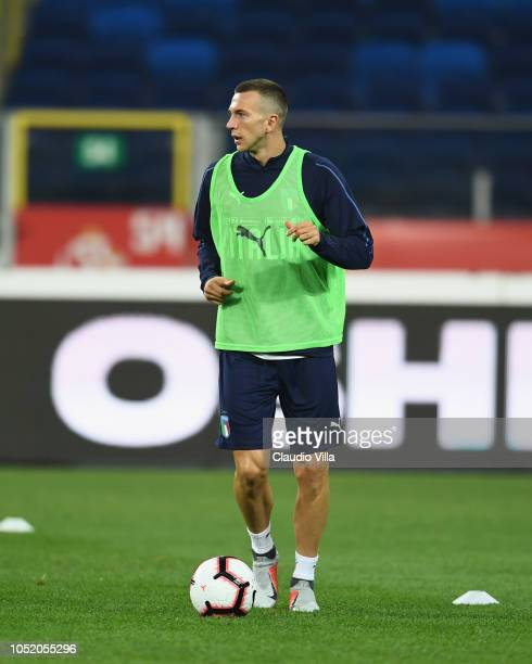 Federico Bernardeschi of Italy in action during a Italy training session at Silesian Stadium on October 13 2018 in Chorzow Poland