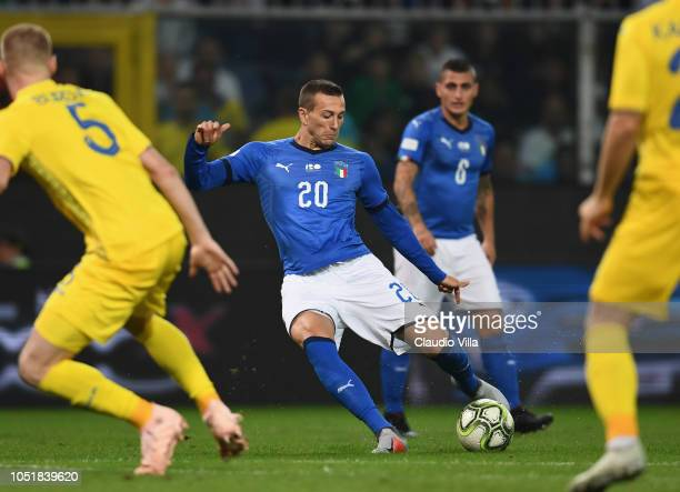 Federico Bernardeschi of Italy in action during the International Friendly match between Italy and Ukraine on October 10 2018 in Genoa Italy
