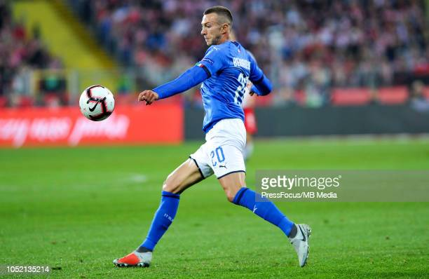 Federico Bernardeschi of Italy in action during the UEFA Nations League A group three match between Poland and Italy at Silesian Stadium on October...