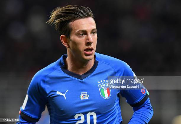 Federico Bernardeschi of Italy looks on during the FIFA 2018 World Cup Qualifier PlayOff Second Leg between Italy and Sweden at San Siro Stadium on...