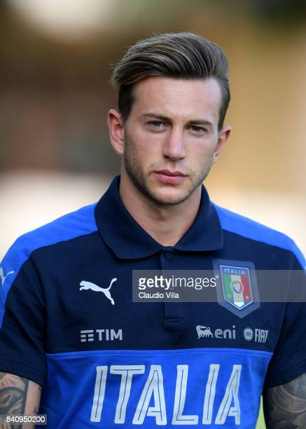 Federico Bernardeschi of Italy looks on during the training session at Coverciano on August 30 2017 in Florence Italy