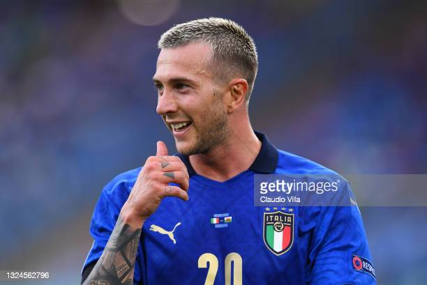 Federico Bernardeschi of Italy looks on during the UEFA Euro 2020 Championship Group A match between Italy and Wales at Olimpico Stadium on June 20,...