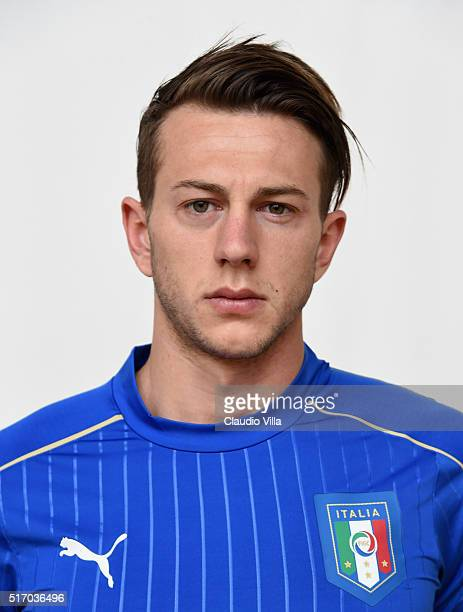 Federico Bernardeschi of Italy poses during the official portrait session at Coverciano on March 23 2016 in Florence Italy