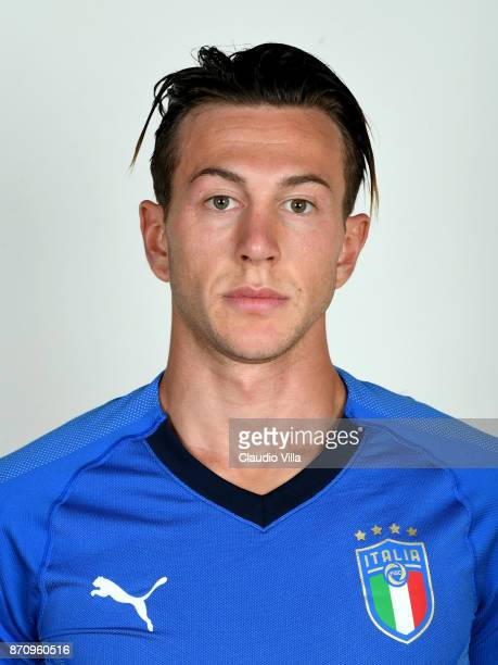 Federico Bernardeschi of Italy poses during the official portrait session at Coverciano on November 6 2017 in Florence Italy