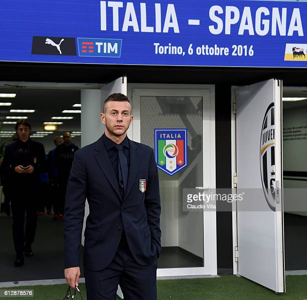 Federico Bernardeschi of Italy prior to the press conference at Juventus Stadium on October 5 2016 in Turin Italy