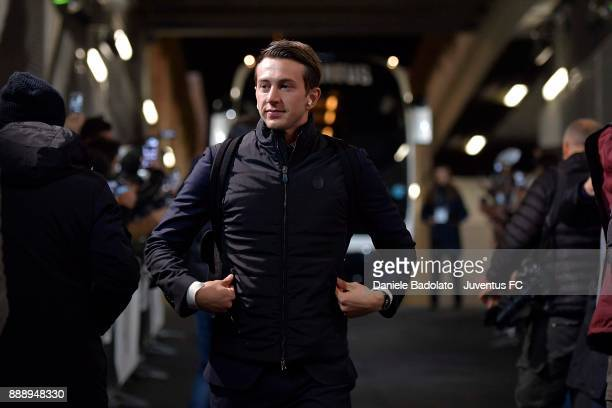 Federico Bernardeschi of Juventus arrives at Allianz Stadium before the Serie A match between Juventus and FC Internazionale on December 9 2017 in...
