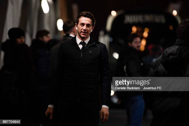 Federico Bernardeschi of Juventus arrives at Allianz Stadium before the serie A match between Juventus and AS Roma at Allianz Stadium on December 23...