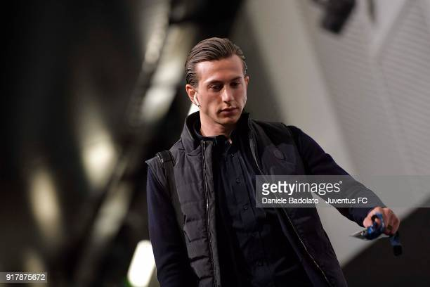 Federico Bernardeschi of Juventus arrives at Allianz Stadium before the UEFA Champions League Round of 16 First Leg match between Juventus and...
