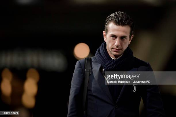 Federico Bernardeschi of Juventus arrives at Allianz Stadium during the TIM Cup match between Juventus and Torino FC at Allianz Stadium on January 3...