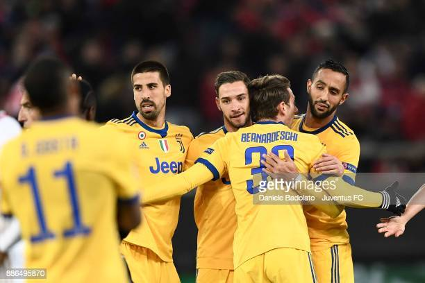 Federico Bernardeschi of Juventus celebrates 02 goal during the UEFA Champions League group D match between Olympiakos Piraeus and Juventus at...
