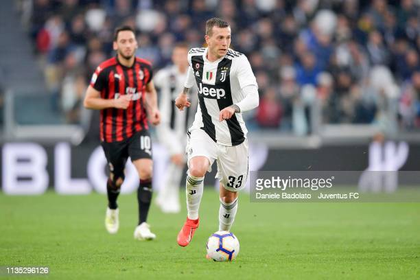 Federico Bernardeschi of Juventus controls the ball during the Serie A match between Juventus and AC Milan on April 6 2019 in Turin Italy