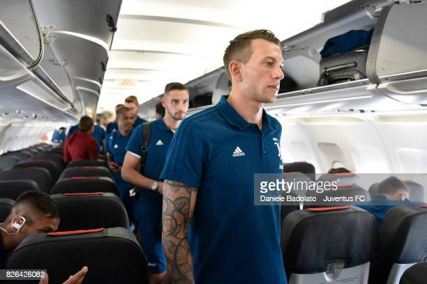 Federico Bernardeschi of Juventus departs on August 4 2017 in Turin Italy