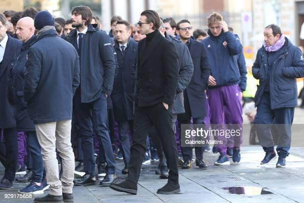 Federico Bernardeschi of Juventus during the funeral of Davide Astori on March 8 2018 in Florence Italy The Fiorentina captain and Italy...