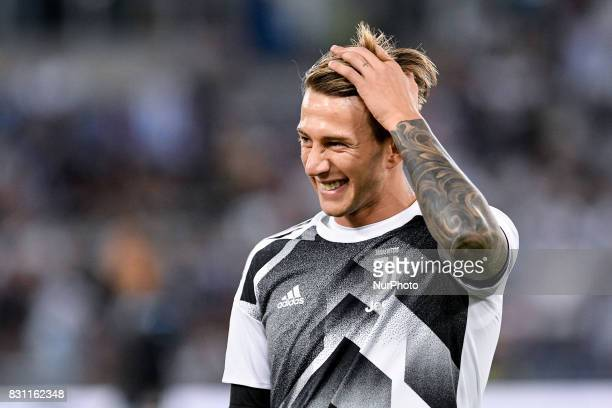 Federico Bernardeschi of Juventus during the Italian Supercup Final match between Juventus and Lazio at Stadio Olimpico Rome Italy on 13 August 2017