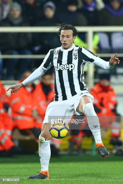 Federico Bernardeschi of Juventus during the serie A match between ACF Fiorentina and Juventus at Stadio Artemio Franchi on February 9 2018 in...