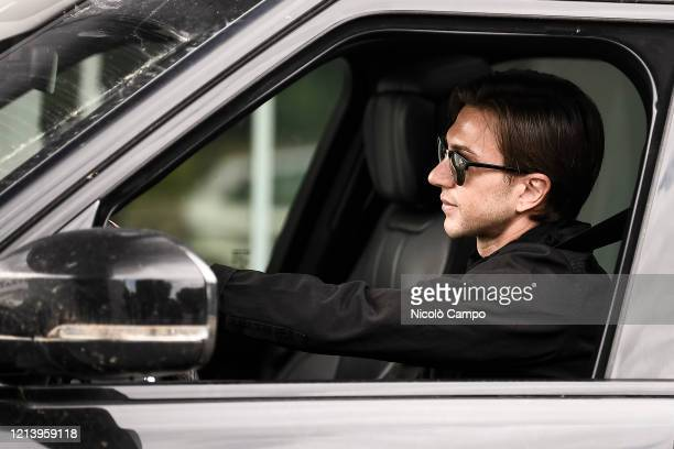 Federico Bernardeschi of Juventus FC arrives by car to the Continassa training ground to attend a training session Serie A plans to resume its season...