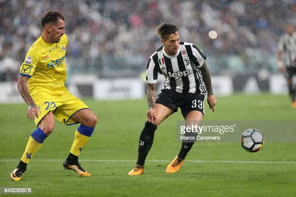 Federico Bernardeschi of Juventus FC in action during the Serie A football match between Juventus FC and Ac Chievo Verona Juventus Fc wins 30 over...