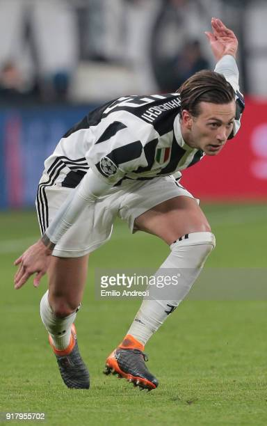 Federico Bernardeschi of Juventus FC looks on during the UEFA Champions League Round of 16 First Leg match between Juventus and Tottenham Hotspur at...