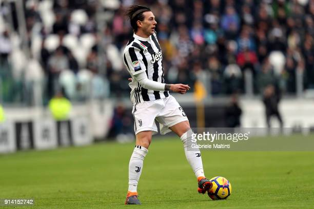 Federico Bernardeschi of Juventus in action during the serie A match between Juventus and US Sassuolo on February 4 2018 in Turin Italy