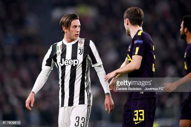 Federico Bernardeschi of Juventus looks on during the UEFA Champions League Round of 16 First Leg match between Juventus and Tottenham Hotspur at...
