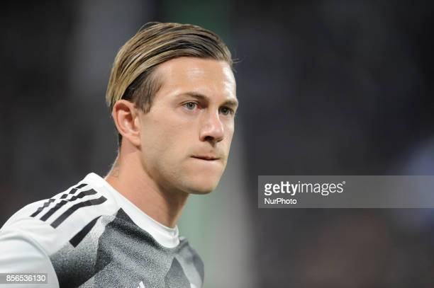 Federico Bernardeschi of Juventus player during the warmup before the Uefa Champions League 20172018 match between FC Juventus and Olympiacos FC at...