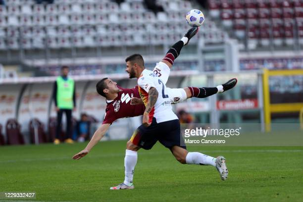 Federico Bonazzoli of Torino FC in action during the Coppa Italia match between Torino Fc and Us Lecce. Torino Fc wins 3-1 over Us Lecce.