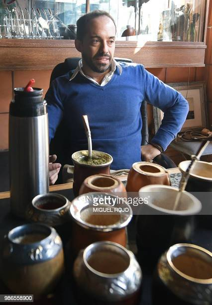 Federico Bresciani owner of traditional handmade silverware store Bresciani poses at his workshop in Montevideo on June 27 2018 Several players...