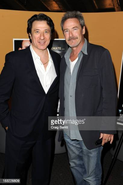 Federico Castelluccio and James McCaffrey attend the 'Keep Your Enemies Closer Checkmate' screening at the School of Visual Arts Theater on October 1...