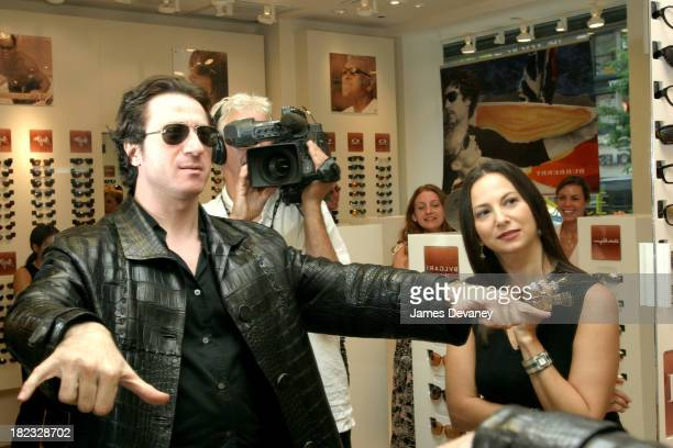 5bbf93078b02c Federico Castelluccio and Safilo s Eden Wexler during Federico Castelluccio  of The Sopranos Shops for Sunglasses at