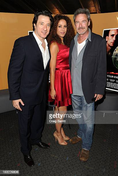 Federico Castelluccio Yvonne Maria Schaefer and James McCaffrey attend the 'Keep Your Enemies Closer Checkmate' screening at the School of Visual...