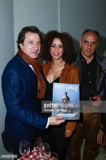 Federico Castelluccio Yvonne Maria Schaefer and M Shiraz attend the Swiss Wine Valais Loves New York hosted by Gregory de la Haba Billy The Artist...