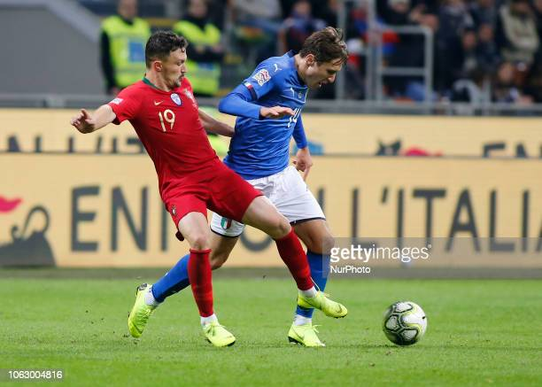 Federico Chiesa during the Nation League match between Italia v Portogallo in Milan Giuseppe Meazza Stadio on November 17 2018