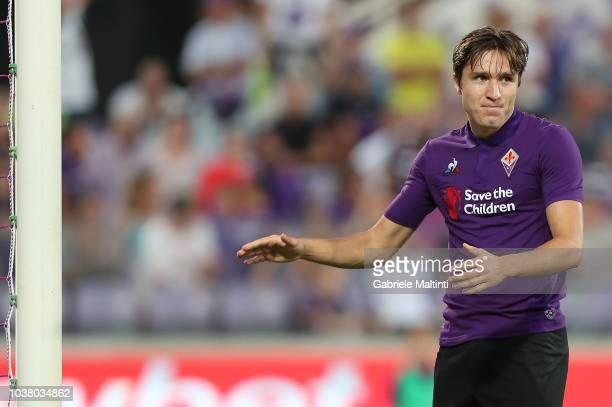 Federico Chiesa of ACF Fiorentina in action during the Serie A match between ACF Fiorentina and SPAL at Stadio Artemio Franchi on September 22 2018...