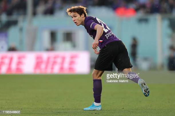 Federico Chiesa of ACF fiorentina in action during the Serie A match between ACF Fiorentina and SPAL at Stadio Artemio Franchi on January 12 2020 in...