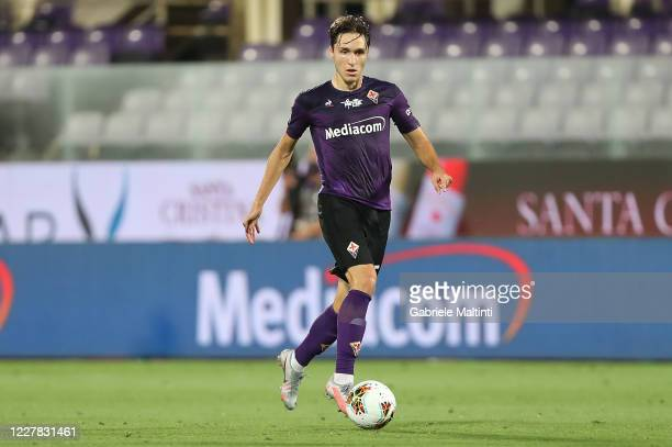 Federico Chiesa of ACF Fiorentina in action during the Serie A match between ACF Fiorentina and Bologna FC at Stadio Artemio Franchi on July 29 2020...